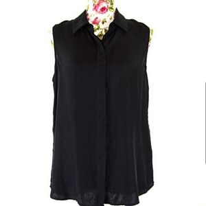 THEORY | Silk Sleeveless Button Up Top Size Large